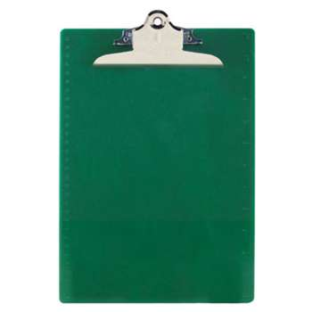 "SAUNDERS MFG. CO., INC. Recycled Plastic Clipboards, 1"" Clip Cap, 8 1/2 x 12 Sheets, Green"