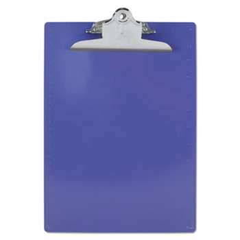 "SAUNDERS MFG. CO., INC. Recycled Plastic Clipboards, 1"" Clip Cap, 8 1/2 x 12 Sheets, Purple"