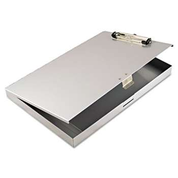 "SAUNDERS MFG. CO., INC. Tuffwriter Recycled Aluminum Storage Clipboard, 1/2"" Clip, 8 1/2 x 12, Gray"
