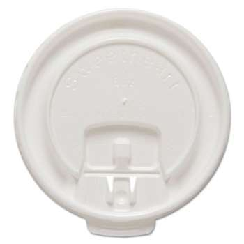 SOLO CUPS Liftback & Lock Tab Cup Lids for Foam Cups, Fits 8 oz Trophy Cups, WE, 100/PK