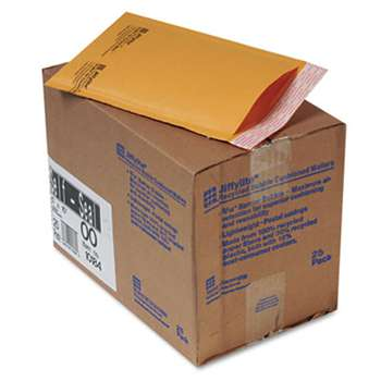 ANLE PAPER/SEALED AIR CORP. Jiffylite Self-Seal Mailer, Side Seam, #00, 5 x 10, Golden Brown, 25/Carton