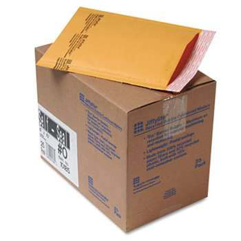 ANLE PAPER/SEALED AIR CORP. Jiffylite Self-Seal Mailer, Side Seam, #0, 6 x 10, Golden Brown, 25/Carton