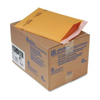 ANLE PAPER/SEALED AIR CORP. Jiffylite Self-Seal Mailer, Side Seam, #1, 7 1/4 x 12, Golden Brown, 25/Carton