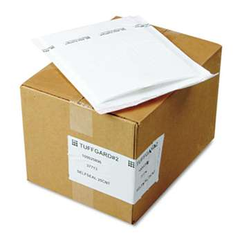 ANLE PAPER/SEALED AIR CORP. Jiffy TuffGard Self-Seal Cushioned Mailer, #2, 8 1/2 x 12, White, 25/Carton