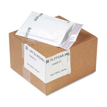 ANLE PAPER/SEALED AIR CORP. Jiffy TuffGard Self-Seal Cushioned Mailer, Side Seam, #000, 4x8, WE, 25/Carton