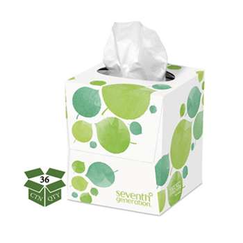 Seventh Generation 13719CT 100% Recycled Facial Tissue, 2-Ply, 85/Box, 36/Carton
