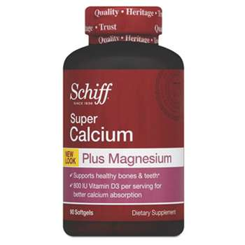 RECKITT BENCKISER Super Calcium Plus Magnesium with Vitamin D Softgel, 90 Count