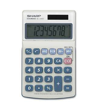 SHARP ELECTRONICS EL240SB Handheld Business Calculator, 8-Digit LCD