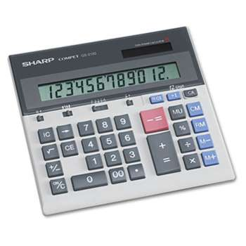 SHARP ELECTRONICS QS-2130 Compact Desktop Calculator, 12-Digit LCD