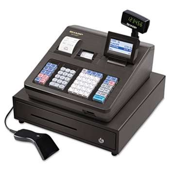 SHARP ELECTRONICS XE Series Cash Register w/Scanner, Thermal Printer, 7000 Lookup, 40 Clerks, LCD