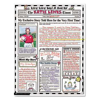 "SCHOLASTIC INC. Instant Personal Poster Sets, Extra Extra Read All About Me, 17"" x 22"", 30/Pack"