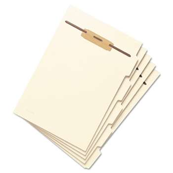 "SMEAD MANUFACTURING CO. Stackable Side Tab Letter Size Folder Dividers with Fastener, 1/2"", 50 Each/Pack"