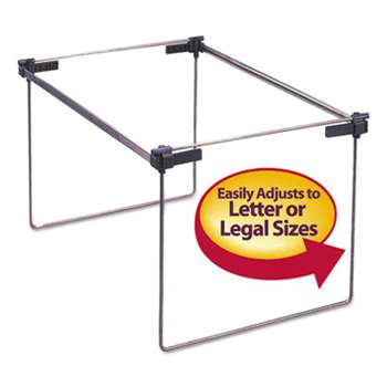 "SMEAD MANUFACTURING CO. Hanging Folder Frame, Letter/Legal Size, 12-24"" Long, Steel, 2/Box"