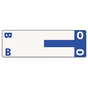 SMEAD MANUFACTURING CO. Alpha-Z Color-Coded First Letter Name Labels, B & O, Dark Blue, 100/Pack