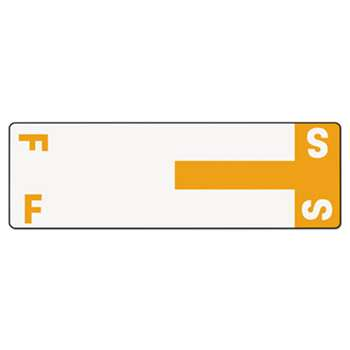 SMEAD MANUFACTURING CO. Alpha-Z Color-Coded First Letter Name Labels, F & S, Orange, 100/Pack