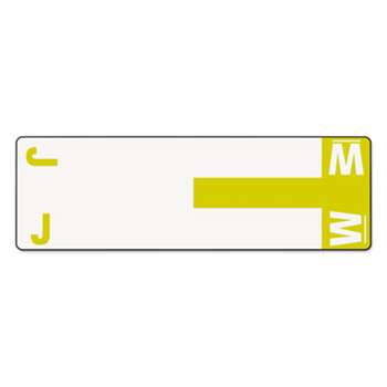 SMEAD MANUFACTURING CO. Alpha-Z Color-Coded First Letter Name Labels, J & W, Yellow, 100/Pack