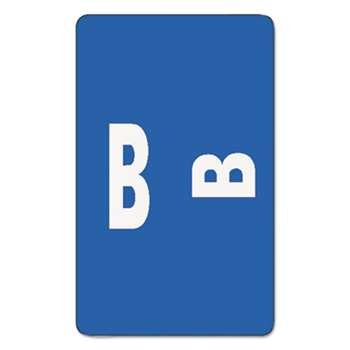 SMEAD MANUFACTURING CO. Alpha-Z Color-Coded Second Letter Labels, Letter B, Dark Blue, 100/Pack