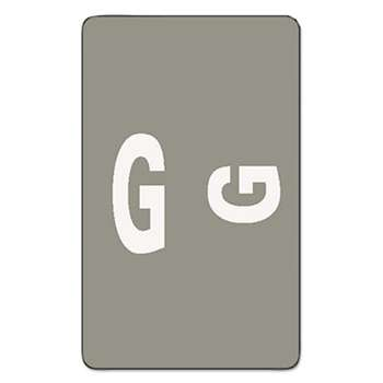 SMEAD MANUFACTURING CO. Alpha-Z Color-Coded Second Letter Labels, Letter G, Gray, 100/Pack