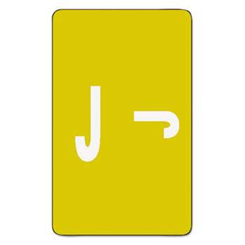 SMEAD MANUFACTURING CO. Alpha-Z Color-Coded Second Letter Labels, Letter J, Yellow, 100/Pack