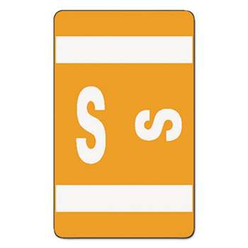 SMEAD MANUFACTURING CO. Alpha-Z Color-Coded Second Letter Labels, Letter S, Orange, 100/Pack
