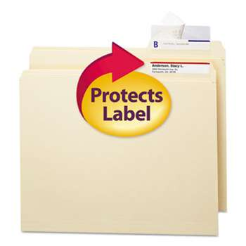 SMEAD MANUFACTURING CO. Seal & View File Folder Label Protector, Clear Laminate, 3-1/2x1-11/16, 100/Pack