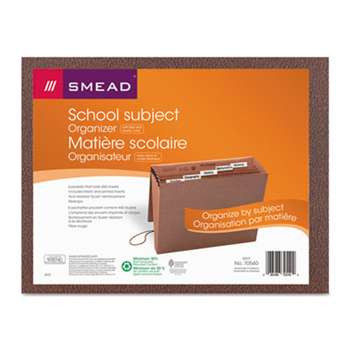 SMEAD MANUFACTURING CO. Expanding File, 6 Pockets, 1/5 Tab, Redrope Printed, Letter, Redrope Printed