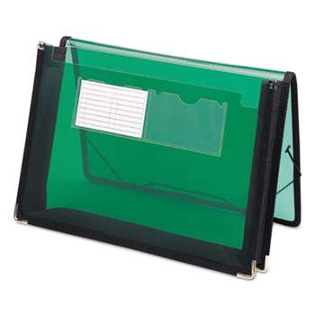 "SMEAD MANUFACTURING CO. 2 1/4"" Exp Wallet, Poly, Letter, Translucent Green"