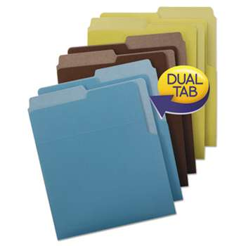 SMEAD MANUFACTURING CO. Organized Up Heavyweight Vertical File Folders, Assorted Earth Tones, 6/Pack