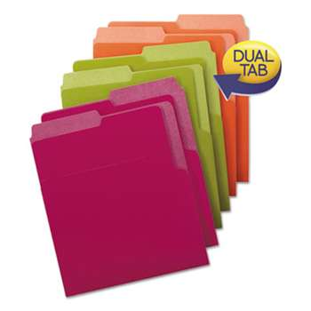 SMEAD MANUFACTURING CO. Organized Up Heavyweight Vertical File Folders, Assorted Bright Tones, 6/Pack