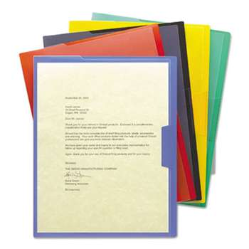 SMEAD MANUFACTURING CO. Organized Up Poly Opaque Project Jackets, Letter, Assorted, 5/Pack