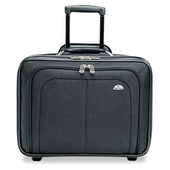 SAMSONITE CORP/LUGGAGE DIV Mobile Office Rolling Notebook Case, Nylon, 17 1/2 x 9 x 14, Black
