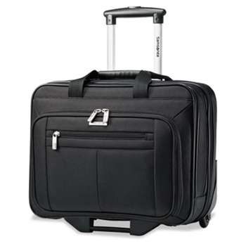 SAMSONITE CORP/LUGGAGE DIV Rolling Business Case, 16 1/2 x 8 x 13 1/4, Black