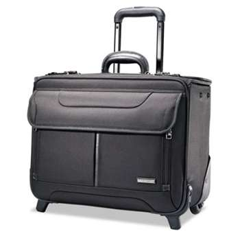 SAMSONITE CORP/LUGGAGE DIV Rolling Catalog Case, 17 1/4 x 7 1/2 x 13, Black