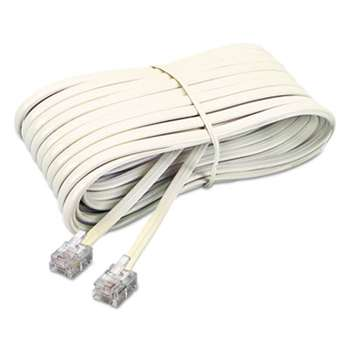 SOFTALK LLC Telephone Extension Cord, Plug/Plug, 25 ft., Ivory