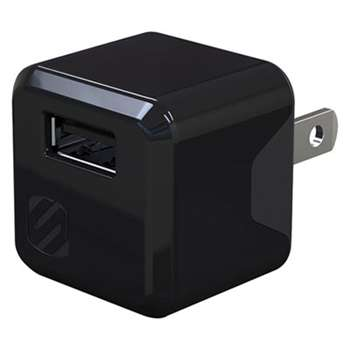 "SCOSCHE superCUBE Flip Wall Charger, Black, Small, 1 1/2""l x 3 3/14""w x 7""h"