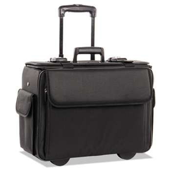 THE BUGATTI GROUP INC STEBCO Collection Catalog/Computer Case on Wheels, Nylon, 18 x 8 x 13, Black
