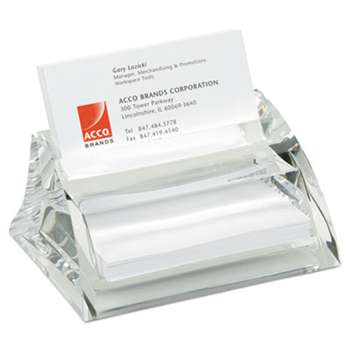 ACCO BRANDS, INC. Stratus Acrylic Business Card Holder, Holds 40 3 1/2 x 2 Cards, Clear