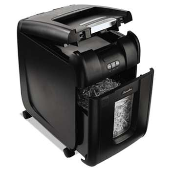 ACCO BRANDS, INC. Stack-and-Shred 200X Auto Feed Super Cross-Cut Shredder, 200 Sheet Capacity