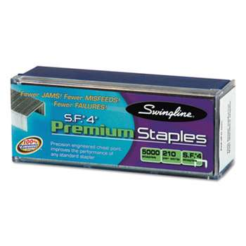 ACCO BRANDS, INC. S.F. 4 Premium Chisel Point 210 Count Full-Strip Staples, 5000/Box