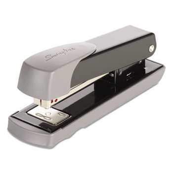 ACCO BRANDS, INC. Compact Commercial Stapler, Half Strip, 20-Sheet Capacity, Black