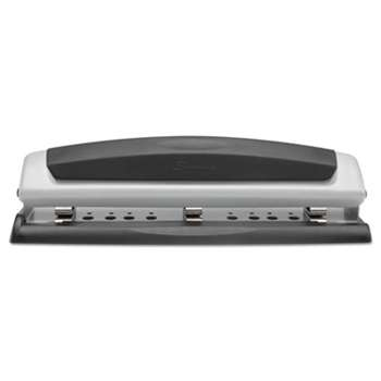 "Swingline 74037 10-Sheet Precision Pro Desktop Two- and Three-Hole Punch, 9/32"" Holes"