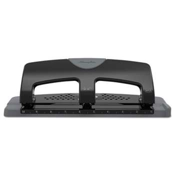 "Swingline 74133 20-Sheet SmartTouch Three-Hole Punch, 9/32"" Holes, Black/Gray"