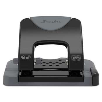 "ACCO BRANDS, INC. 20-Sheet SmartTouch Two-Hole Punch, 9/32"" Holes, Black/Gray"