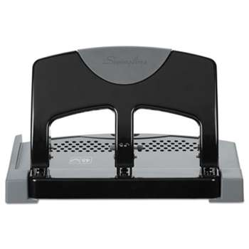 "ACCO BRANDS, INC. 45-Sheet SmartTouch Three-Hole Punch, 9/32"" Holes, Black/Gray"