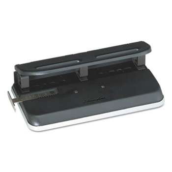 "ACCO BRANDS, INC. 24-Sheet Easy Touch Two-to-Seven-Hole Precision-Pin Punch, 9/32"" Holes, Black"