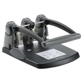 "ACCO BRANDS, INC. 300-Sheet Extra High-Capacity Three-Hole Punch, 9/32"" Holes, Black/Gray"