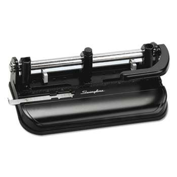 "ACCO BRANDS, INC. 32-Sheet Lever Handle Two-to-Seven-Hole Punch, 9/32"" Holes, Black"