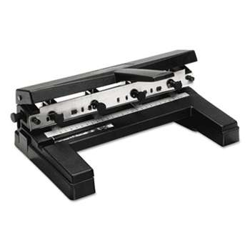 "ACCO BRANDS, INC. 40-Sheet Two-to-Four-Hole Adjustable Punch, 9/32"" Holes, Black"