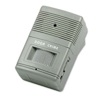 TATCO Visitor Arrival/Departure Chime, Battery Operated, 2-3/4w x 2d x 4-1/4h, Gray