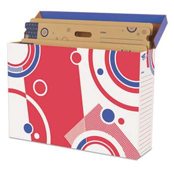 TREND ENTERPRISES, INC. File 'n Save Bulletin Board Storage Box, 27-3/4 x 19 x 7-1/4, Bright Stars